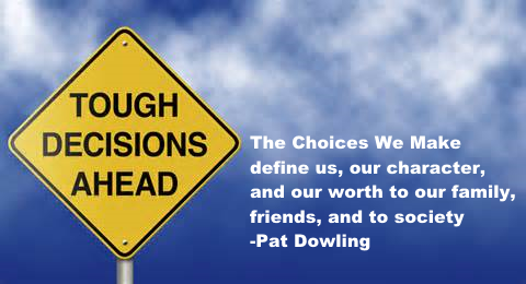 our choices determine our character